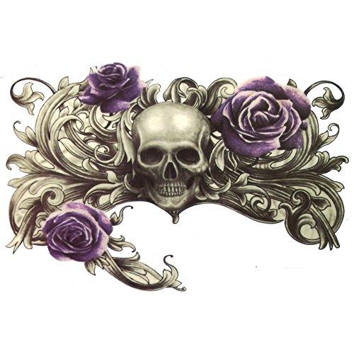 - TAFLY Temporary Tattoo-Skull 5 Sheets (7.5