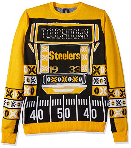 NFL Pittsburgh Steelers Touchdown Light Up Ugly Sweater, Large