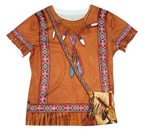 Forum Novelties 77520 Native American Girl Photo Real Print Costume Shirt, Medium, Multicolor, Pack of 1 ()