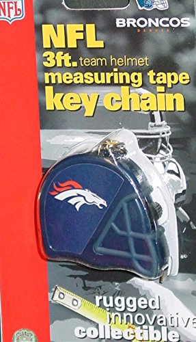 DuraPRO NFL Denver Broncos 3 Foot Measuring Tape Key Chain, NEW