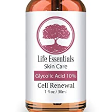 Glycolic Acid Cream 10% ‐Cell Renewal‐ Revitalize Skin‐ Removes Dead Skin Cells‐Shrinks Pores‐ Hyper Pigmentation Treatment‐Fades Dark Spots‐Natural, Vegan & Organic Ingredients (1oz)