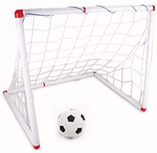 Liergou Obiettivo Obiettivo Calcio rapido Grande Obiettivo di Calcio per Bambini Asilo Home Use Backyard Soccer Net Facile da Montare Indoor Outdoor Soccer Goal with Ball