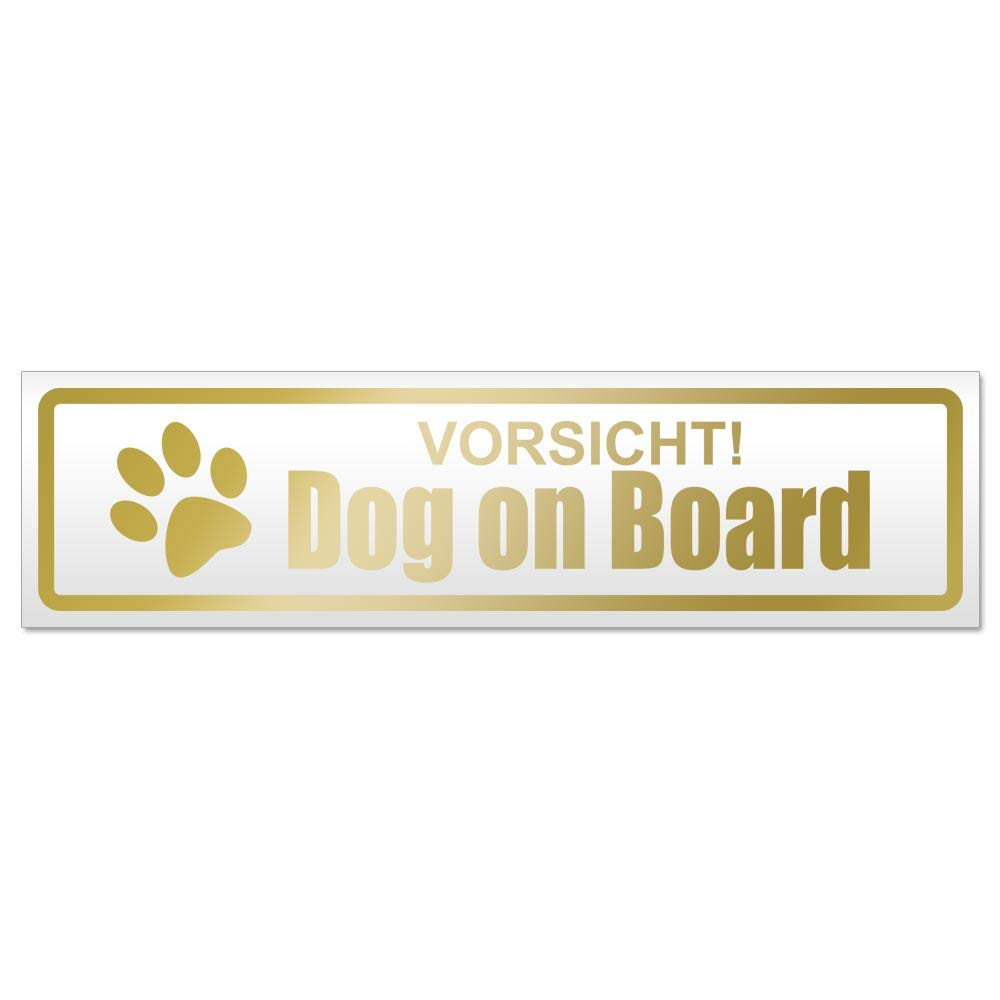 Dog on Board Magnetschild Schild magnetisch Kiwistar Vorsicht