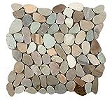 Emser Tile M18VENEPA1212MF Flat Venetian Pebble Pa BLD Tile, 12 x 12''