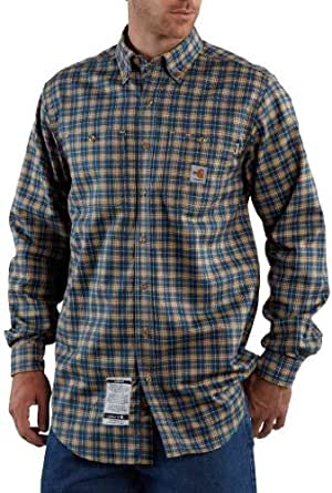 Carhartt FRS007 Flame-Resistant Plaid Shirt Blue X-Large