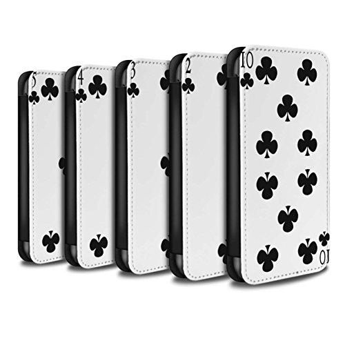 Stuff4 Coque/Etui/Housse Cuir PU Case/Cover pour Apple iPhone 5C / Pack 53pcs Design / Cartes à Jouer Collection