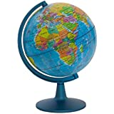 """Waypoint Geographic GeoClassic Globe - 6"""" (10cm) Blue Ocean with UP-TO-DATE Cartography - 100's of Points of Interest - Well Constructed Weighted Base - Perfect for Educational Reference or Decoration"""