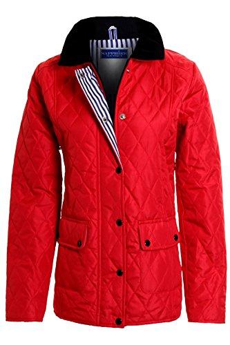 grande Dcontract clair taille Matelass fermeture Veste Manteau Rouge NEUF femmes 8 Fantasia 26 Bouton Rembourr Boutique femmes zx01xUq7w
