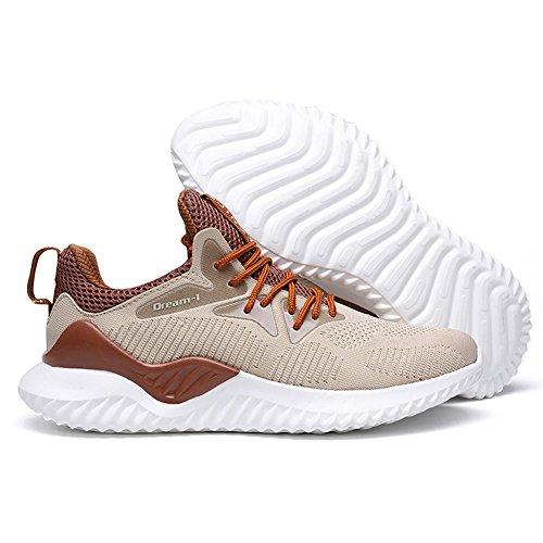 da Uomo Leggere Traspirante Scarpe Scarpe TUOKING da Corsa Marrone Ginnastica Running Sneakers Sportive Moda FX7Fqt