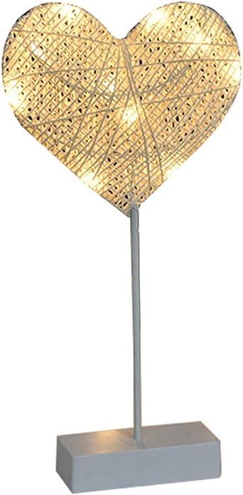 Lámpara de mesa de ratán 3D tejida con luz de noche, estrella luna ...