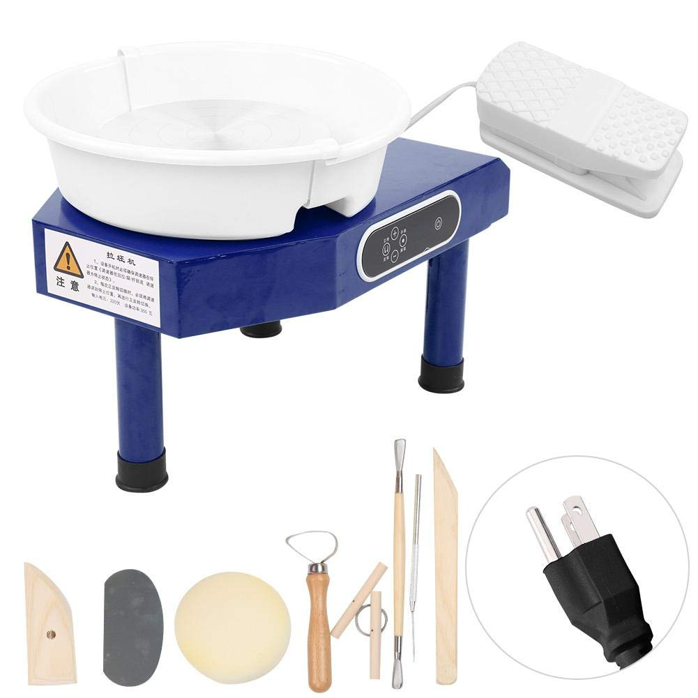 350W US Pottery Wheel Machine 25CM Pottery Forming Machine Household Table Top Pottery Wheel Ceramics Clay Tool for Ceramics Clay Art Craft DIY Clay