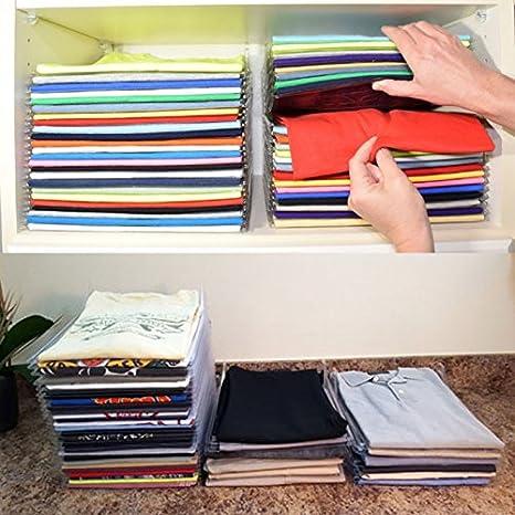 SINOTECH Sistema de organización de ropa - 10 unidades/juego de carpetas de ropa para ropa grande mágico rápido lavandería organizador plegable tabla ...