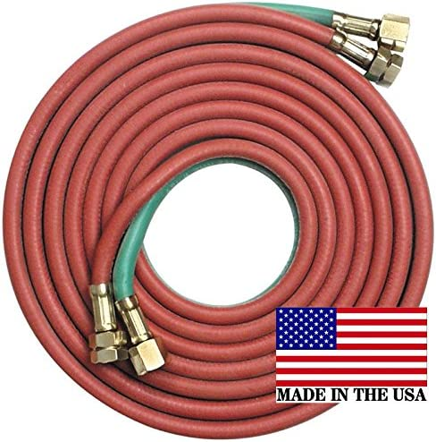 "50/' x 1//4/"" Goodyear//Continental Twin Torch Hose Oxygen Acetylene Welding Grade R"