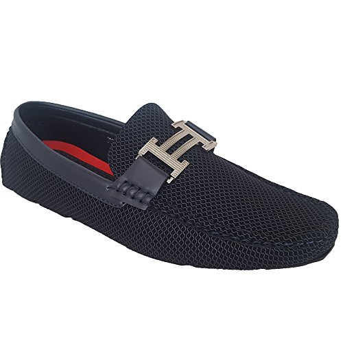Classique Mens Moccasins Shoes Driving Loafers Slip On Italian Smart Formal Designer New Navy - 7027