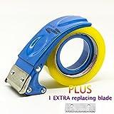 PROSUN Metal Handheld 2 Inch Tape Gun Dispenser Packing Packaging Sealing Cutter Blue