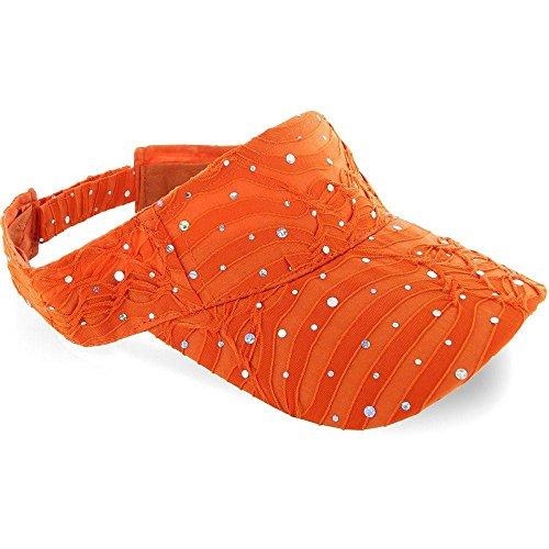 Cinderella Rags Costumes (Orange_ 100% Polyester Glitter Visor Hat (US Seller))