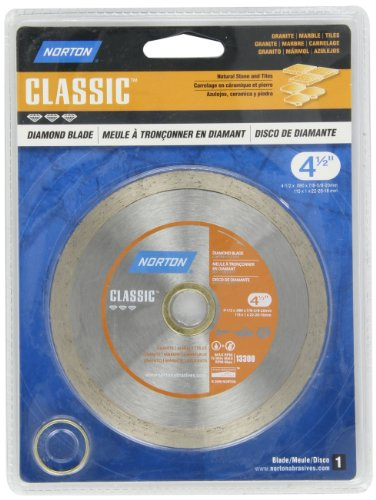 Norton Classic Portable Hand-Held Diamond Blade, 4-1/2