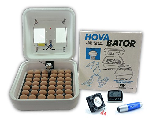 HovaBator Deluxe Egg Incubator Combo (Forced Air Incubator)