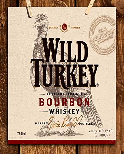 Wild Turkey Liquor - Wild Turkey Bourbon Label- Wall Art Sign- 8 x 10