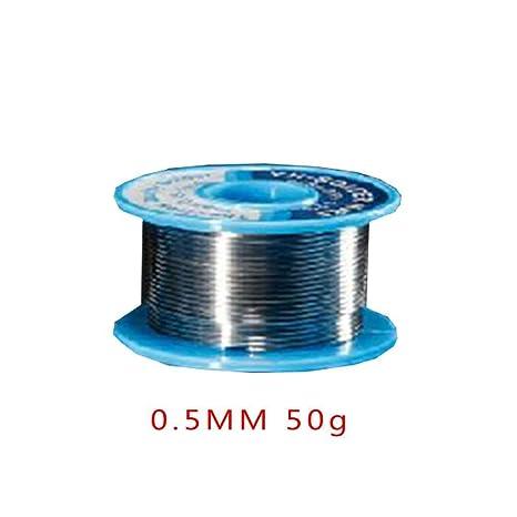 0.5MM 50g soldadura estaño baja temperatura de fusión alambre de soldadura línea de estaño no