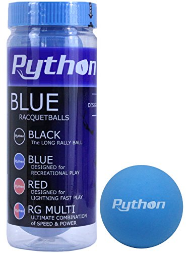 Python 3 Ball Can Blue Racquetballs (Standard Color w/Tournament Quality!) – DiZiSports Store