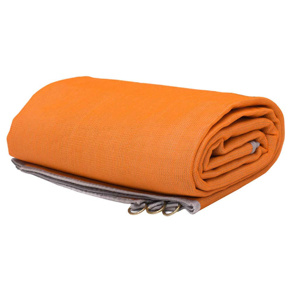 CGear The Mat - Patented Outdoor Camping Mat, Orange, 8' x 8'