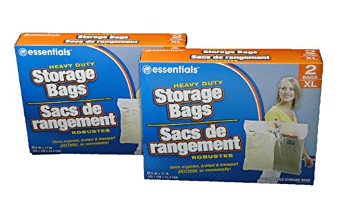 Extra Large Heavy Duty Storage Bags with Zip-lock , Size Extra Large, 2 Count , 2 Pack (4 Total)
