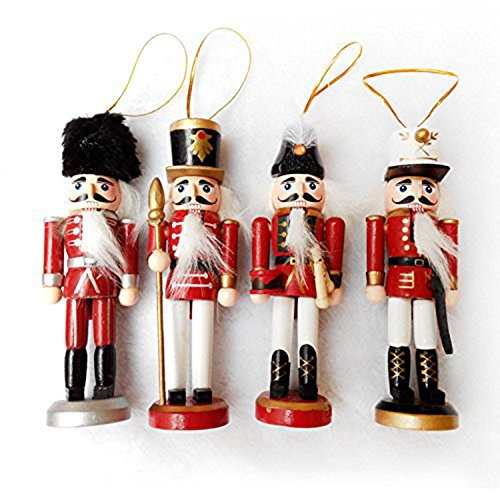 Sugar Plum Fairy Ballet Costume (Maphissus Wooden Soliders Nutcracker Christmas Nutcracker Ornaments Set (Pack 4) 6 Inch)