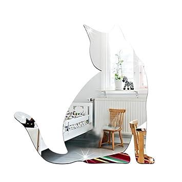 Ouneed Wandaufkleber Wandtattoo Wandsticker Nette Katze Art Und