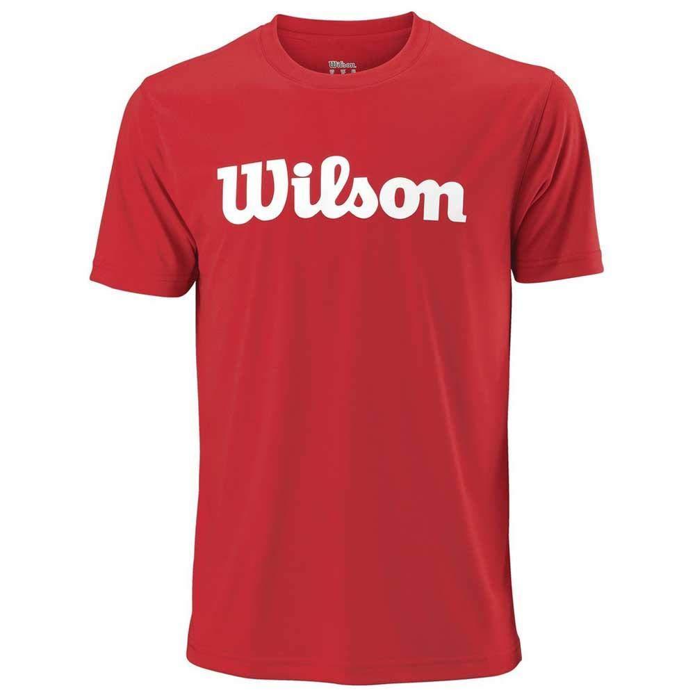 Wilson Hombre Camiseta de tenis manga corta M UWII SCRIPT TECH TEE