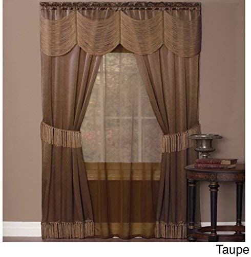 Achim Home Furnishings Ombre Window Panel, 50 84-Inch, Burgundy, 56 x 84 , Taupe