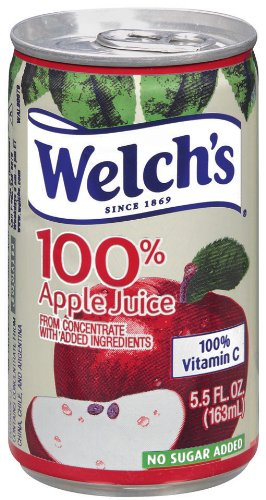 Added Orange Juice - Welch's 100% Juice, Apple, No Sugar Added, 5.5 Ounce On the Go Cans (Pack of 48)