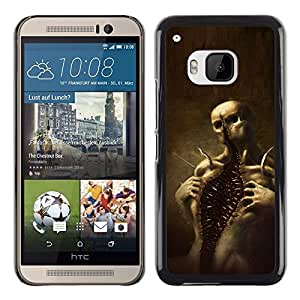 Exotic-Star ( Skull Monster Scary Halloween ) Fundas Cover Cubre Hard Case Cover para HTC One M9