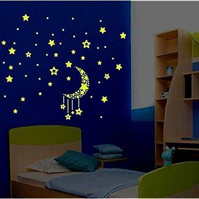 Little Story Stickers, Luminous Star Luminous Sticker A Set Kids Bedroom Fluorescent Glow in The Dark Stars Wall Stickers: Sports & Outdoors