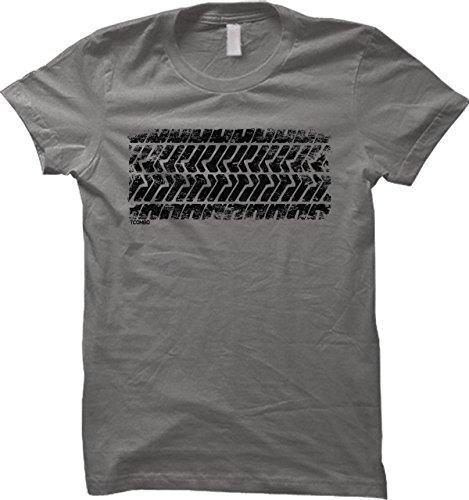 Tire Track WOMENS T-shirt (XL, CHARCOAL)