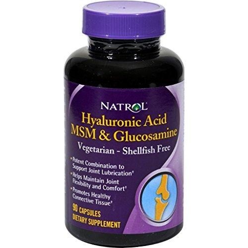 Natrol Vegetarian Hyaluronic Acid MSM and Glucosamine - 90 Capsules