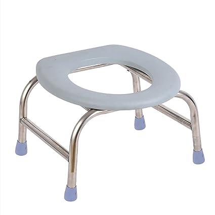 Sgabello Per Doccia Toilette Wc Portatile In Acciaio Inox Sgabello