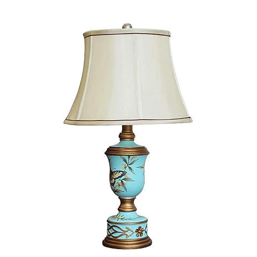 NJ Lámpara de Mesa- Vintage Pastoral Lámpara de Mesa Pintada a ...