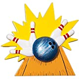Personalized Bowler Christmas Tree Ornament 2019 - Black Ball Strike Knock Down White Pins Bowling Sport Hobby Target Friend Plan Party League Gift Year - Free Customization