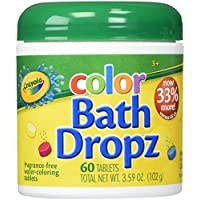 Play Visions Crayola Color Bath Dropz 3.59 Ounce (60...