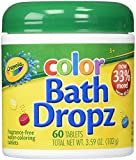 Baby : Play Visions Crayola Color Bath Dropz 3.59 Ounce (60 Tablets)