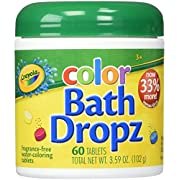 Play Visions Crayola Color Bath Dropz 3.59 Ounce (60 Tablets)