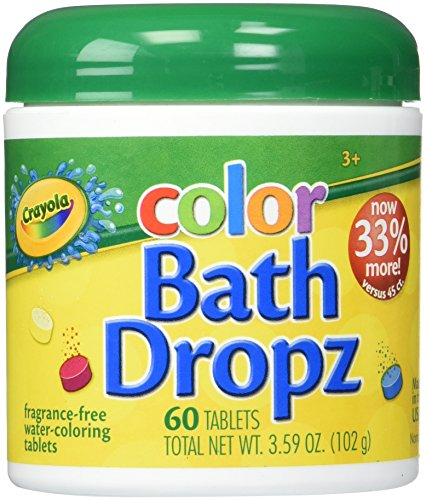 Crayola Play Visions Color Bath Dropz 3.59 Ounce (60 Tablets)