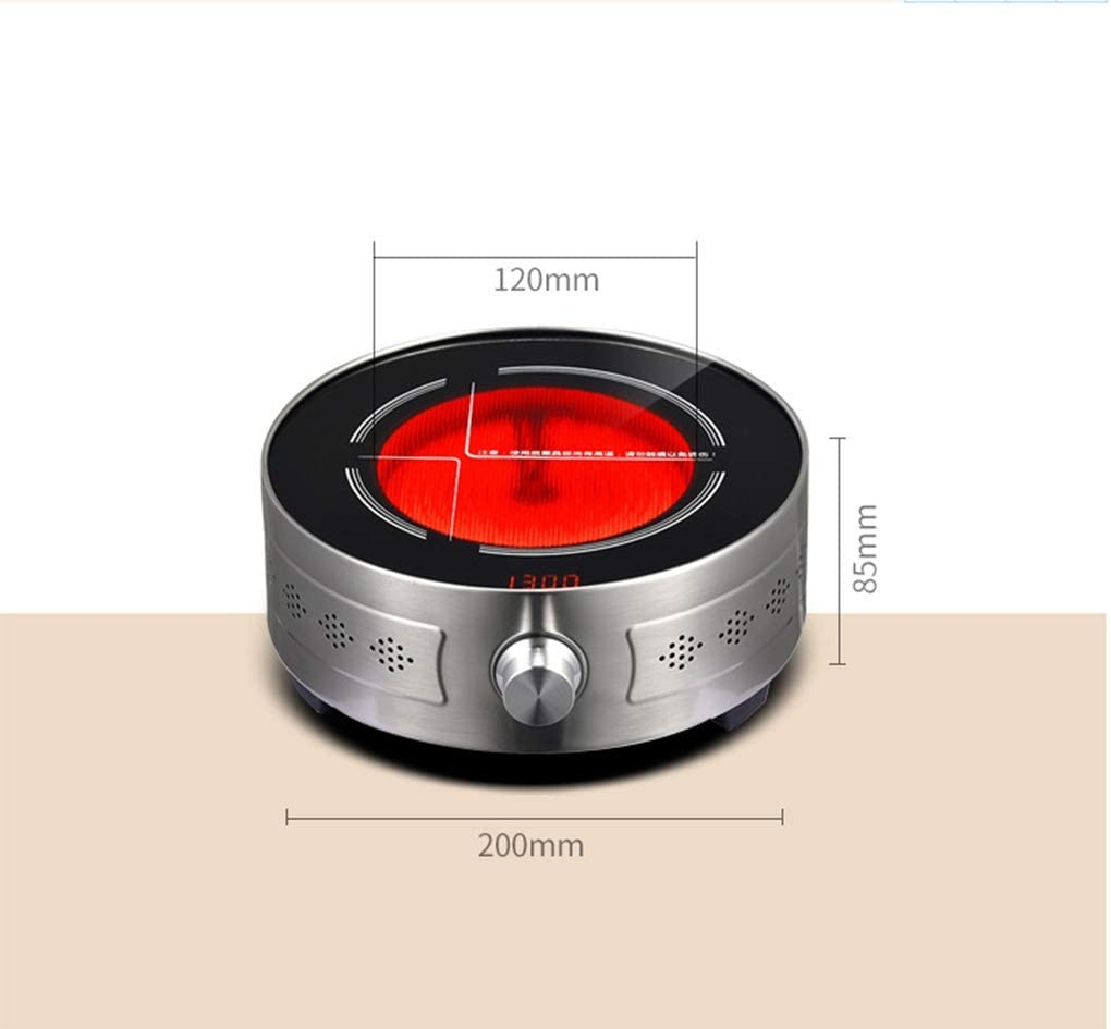 portable infrared hot plate cooker suitable for dormitory home office boiled tea to brew coffee noodles compatible with all flat bottom cookware YWSJGH Small countertop burner 1300W with timing