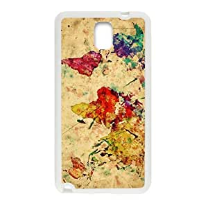 Happy Watercolor world map Cell Phone Case for Samsung Galaxy Note3
