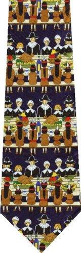 Pilgrims Thanksgiving New Novelty tie