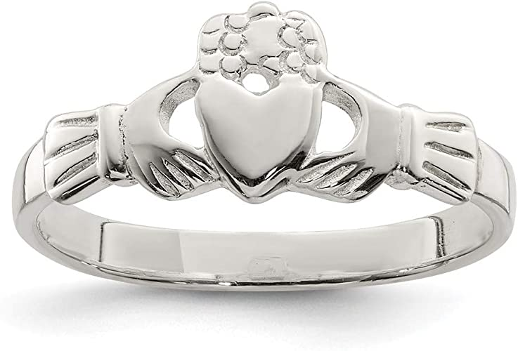 Jewels By Lux Sterling Silver Claddagh Ring