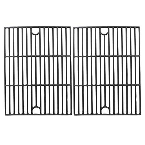 Hisencn Repair Parts Matte Porcelain Cast Iron Cooking Grids Replacement for Nexgrill 720-0888, 720-0670A, 720-0830H, Uniflame GBC981, Kenmore 41516106210 415.16106210 Gas Grill Grates, 17 inch (Sears Grill Parts)
