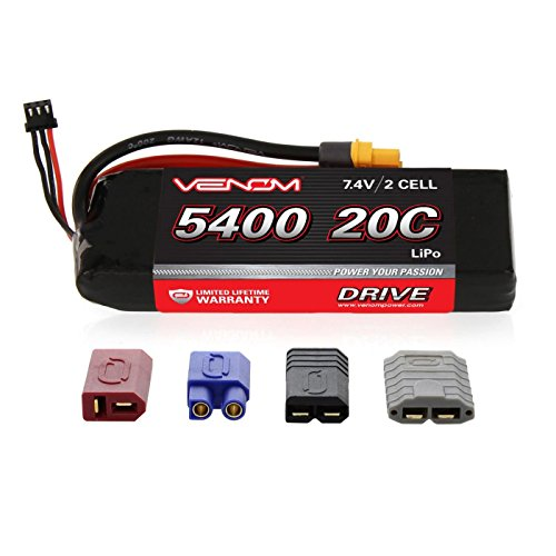 Venom 20C 2S 5400mAh 7.4V LiPo Battery with Universal Plug
