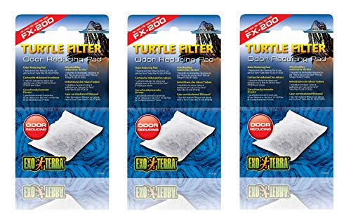 Exo Terra 3 Pack of Replacement Odor Reducing Pads for Turtle Filter FX-200